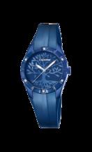 CALYPSO WOMEN'S BLUE TRENDY RUBBER WATCH BRACELET K5716/E