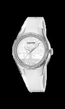 CALYPSO WOMEN'S WHITE TRENDY RUBBER WATCH BRACELET K5721/A