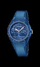 CALYPSO WOMEN'S BLUE TRENDY RUBBER WATCH BRACELET K5721/F