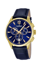 CANDINO MEN'S BLUE CHRONOS LEATHER WATCH BRACELET C4518/F
