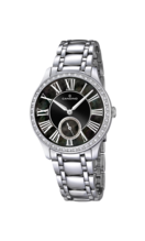 CANDINO WOMEN'S BLACK LADY CASUAL STAINLESS STEEL WATCH BRACELET C4595/3