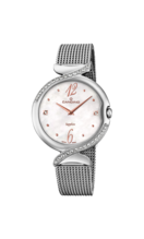 CANDINO WOMEN'S WHITE LADY ELEGANCE STAINLESS STEEL WATCH BRACELET C4611/1