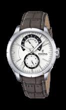 MONTRE FESTINA RETRO F16573/2 BLANC, BRACELET D' CUIR, HOMME