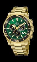 JAGUAR MEN'S GREEN EXECUTIVE STAINLESS STEEL WATCH BRACELET J864/1