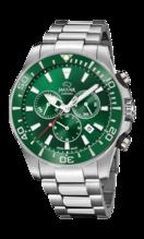 JAGUAR MEN'S GREEN EXECUTIVE STAINLESS STEEL WATCH BRACELET J872/2