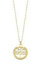 COLLIER LOTUS SILVER TREE OF LIFE LP1641-1/2 ARGENT, FEMME