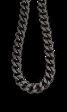 LOTUS STYLE MEN'S STAINLESS STEEL NECKLACE MEN IN BLACK LS2060-1/2